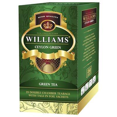 Чай зеленый Williams Ceylon Green (25 пак)