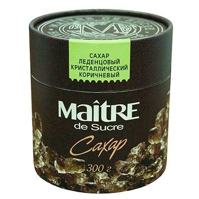 Сахар Мэтр (Maitre) леденцовый коричневый кристаллический в тубе 300гр