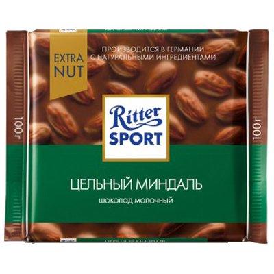 Шоколад Ritter Sport молочный с миндалем 100гр (5шт)