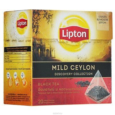 Lipton Mild Ceylon (20пир.) (1шт.)