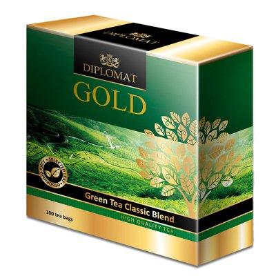 Diplomat Green Tea Classic Blend 100 пак