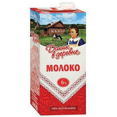 Молоко Домик в деревне 6% 950г (12шт)