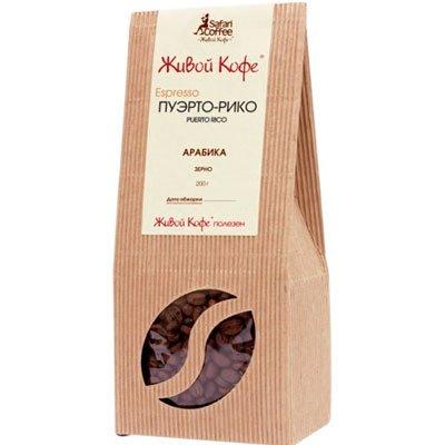 Кофе Живой Пуэрто-Рико молотый к/у (200гр)