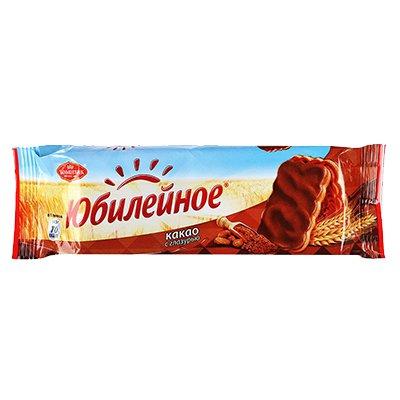 Печенье Юбилейное какао с глазурью 116гр