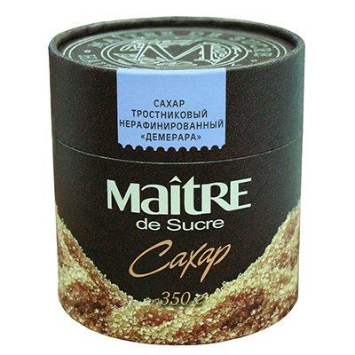 Сахар Мэтр Демерара (Maitre Demerara) тростниковый нерафинированный в тубе 350гр