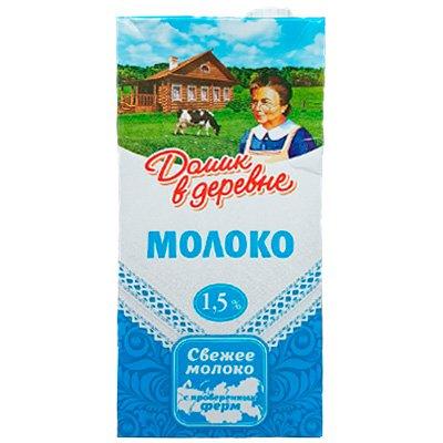 Молоко Домик в деревне 1,5%, 950г (12шт)