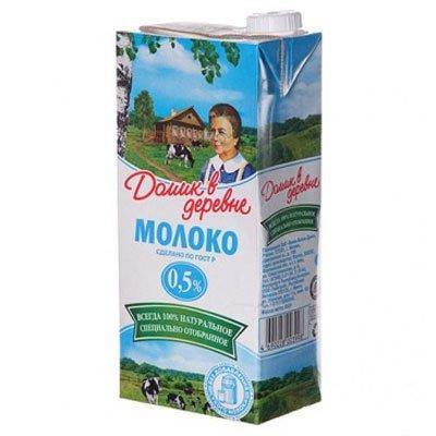 Молоко Домик в деревне 0,5% 950г (12шт)