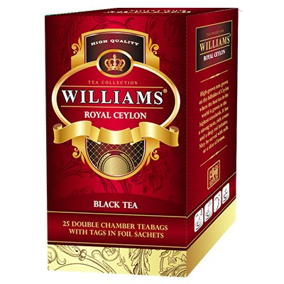 Чай черный Williams Royal Ceylon (25 пак)