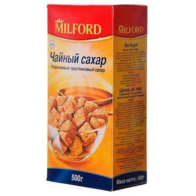 Сахар коричневый тростниковый Милфорд кусковой 500г