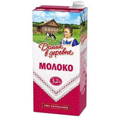 Молоко Домик в деревне 3,2% 950г (12шт)