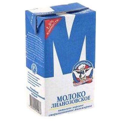 Молоко Лианозовское «М» 1,5% 950г (12шт)